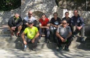 El grupo en Begues